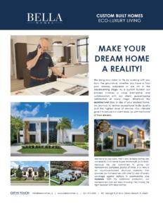 Bella Homes Custom Builds Feature April 2021