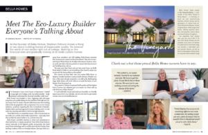Bella Homes Eco-Luxury Builder Spread April 2021